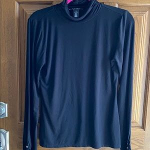 WHBM Jersey ruched turtleneck